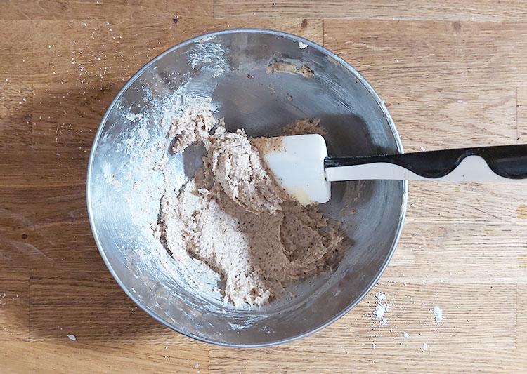 Crème noix de pécan : ajout de la poudre de pécan