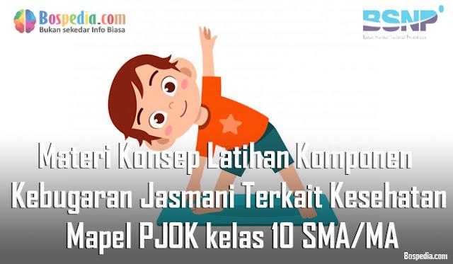 Materi Konsep Latihan Komponen Kebugaran Jasmani Terkait Kesehatan Mapel PJOK kelas 10 SMA/MA