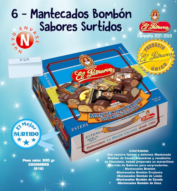 "Mantecados Bombón ""sabores surtidos"" El Patriarca 1000 g - Comercial H. Martín sa"