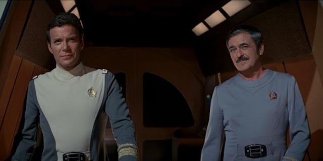 William Shatner and James Doohan in Star Trek: The Motion Picture