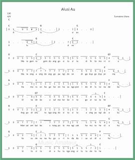 not angka lagu alusi au 1 lagu daerah sumatera utara
