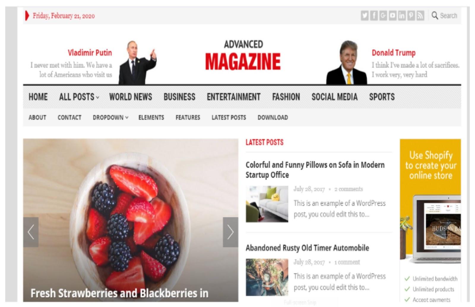 Advanced Magazine WordPress Theme