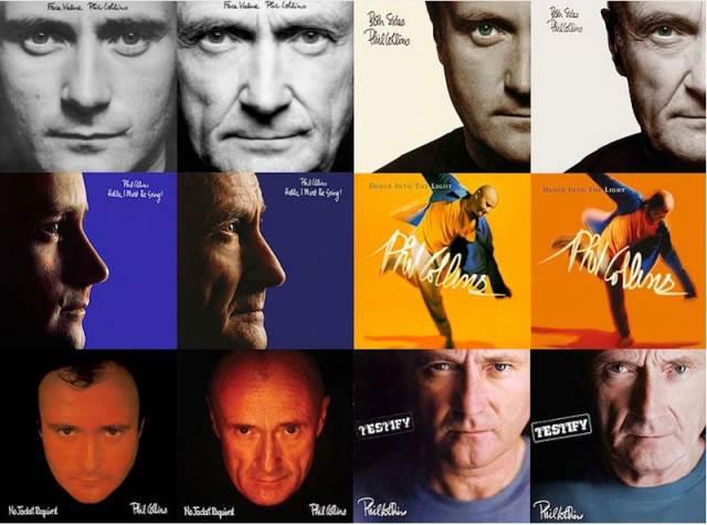 PHIL COLLINS: Φωτογραφίζεται και επαναδημιουργεί τα εξώφυλλα των albums του
