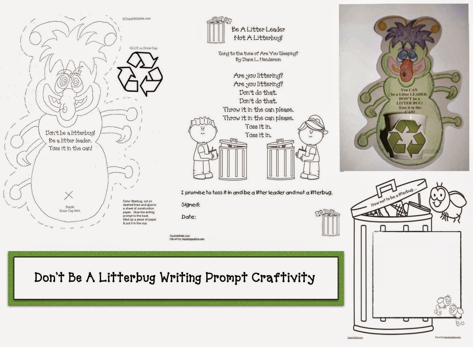 Classroom Freebies April Earth Day Writing Prompt Craftivity