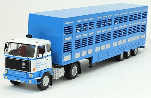 volvo f89 1/43 djurtransport, coleção caminhões articulados altaya, coleção caminhões articulados planeta deagostini, coleção caminhões articulados 1:43