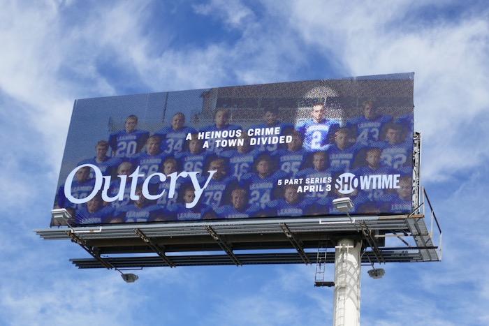 Outcry series premiere billboard