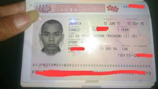 visa kerja jepang