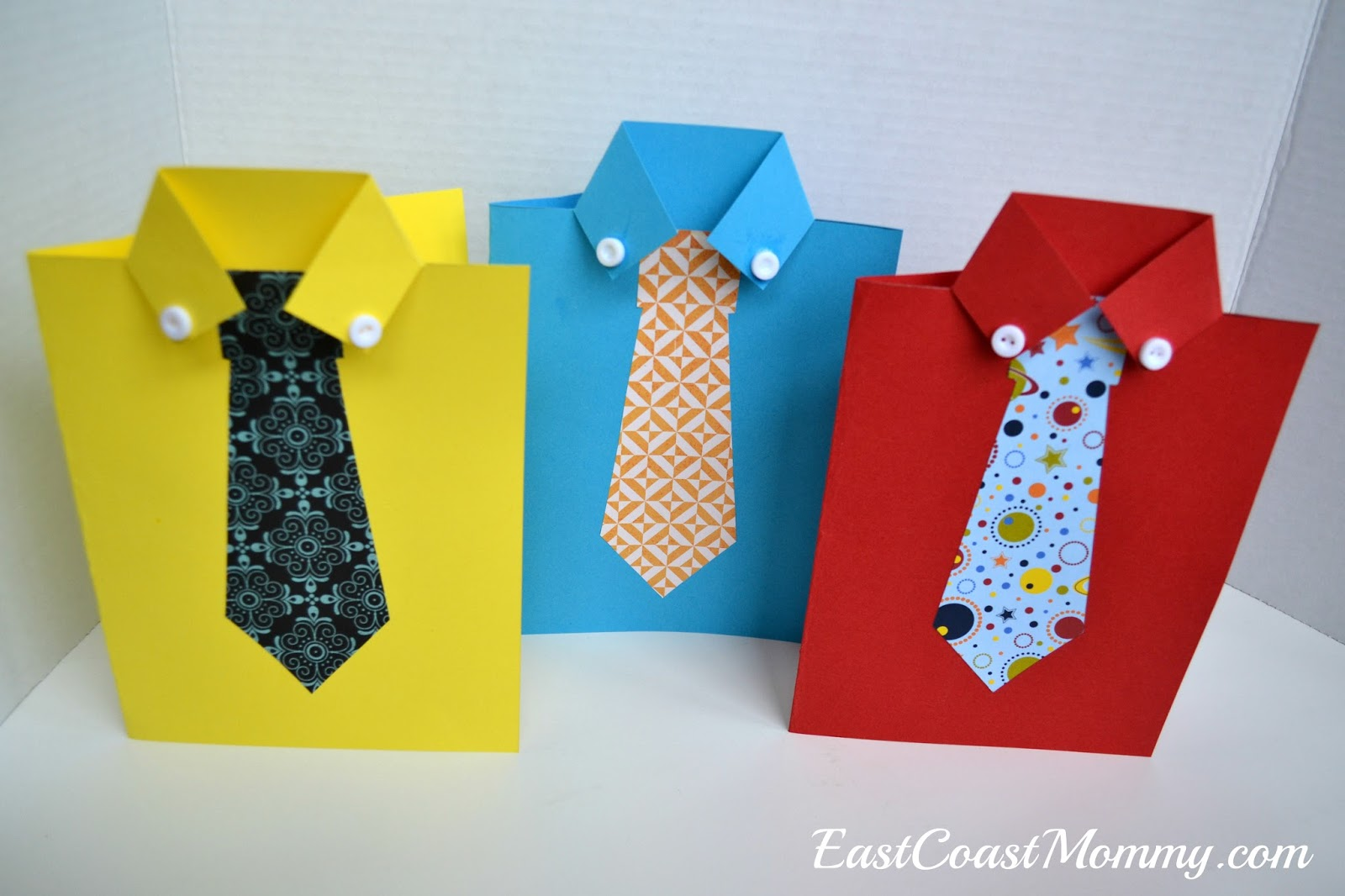East Coast Mommy Shirt And Tie Fathers Day Card