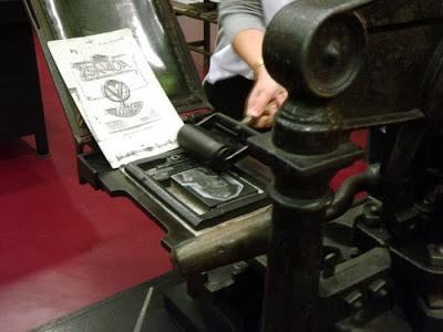 demonstração de impressão antiga