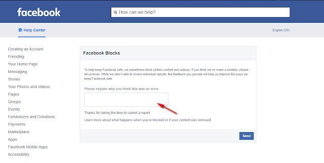 how to unblog url in facebook