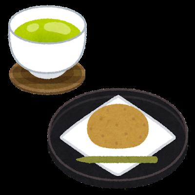 お茶菓子のイラスト