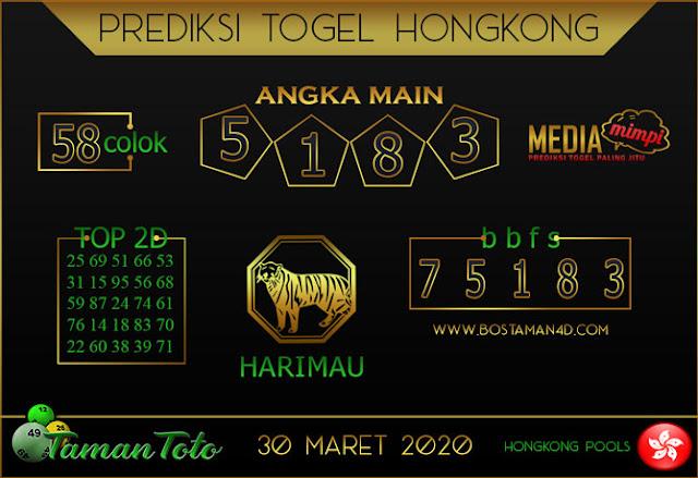 Prediksi Togel HONGKONG TAMAN TOTO 30 MARET 2020
