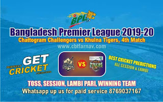 Khulna vs Chattogram 4th Match BPL T20 Today Match Prediction Reports