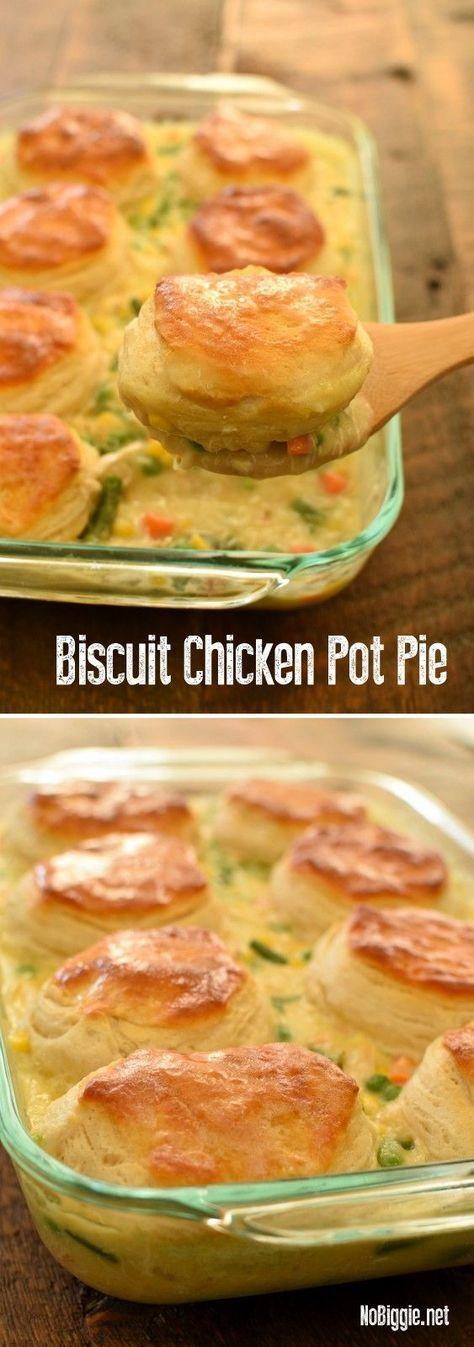 Biscuit Chicken Pot Pie #biscuit #chicken #pot #pie #dinnerrecipes #dinnerideas #dinner