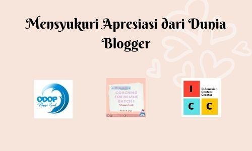 Apresiasi dari dunia blogger