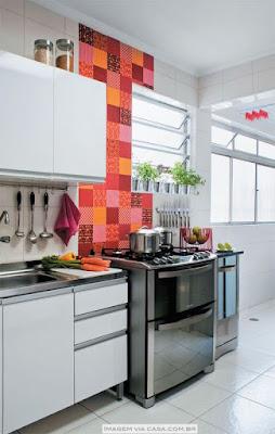 cozinha com adesivo