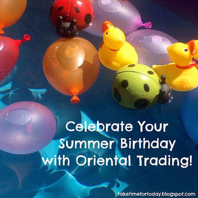 Summer Birthday Party with Oriental Trading