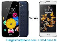 Harga dan Perbedaan LG K4 dengan LG K8