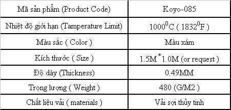 Mã sản phẩm Koyo 085