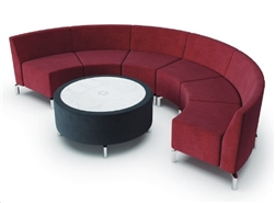 Curved Lounge Seating Layout