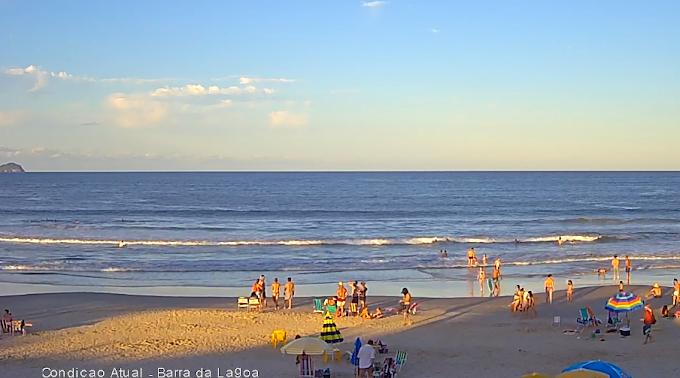 Câmera ao vivo da Praia da Barra da Lagoa