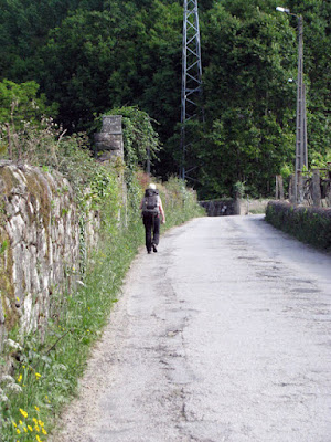 peregrina de santiago no Caminho