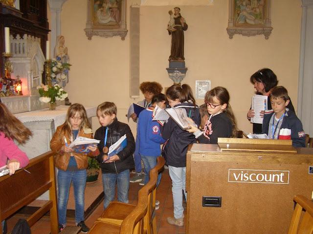 temps fort de première communion visite découverte de l'église