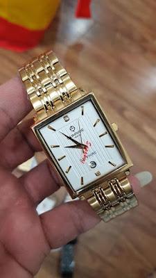 Đồng hồ đeo tay nam dây inox vàng