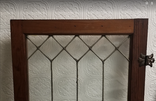 leaded glass from 3 Elm St Newton NJ Authenticated Sears No 163 of Reuben Talmage