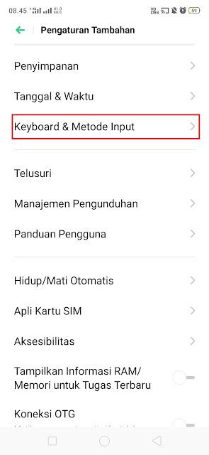 Keyboard & Metode