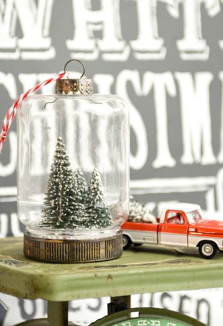 Vintage inspired Dollar Tree bottle brush ornaments
