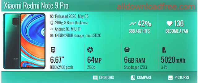 مراجعة مواصفات هاتف Xiaomi Redmi Note 9 Pro