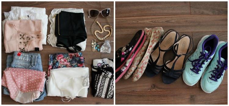 2x letní šaty sukně a top sluneční brýle 2x šortky a 2x topy k nim 2x  další náhradní topy náhrdelník čelenka do vlasů 3x  naušnice žabky balerínky boty na ... 9645ffd20e