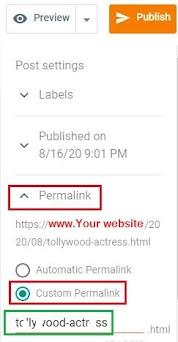 Blogger post URL, Blogger URL not working, How to change URL