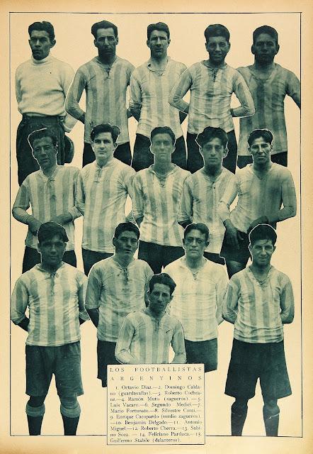 Plantel de Argentina en Campeonato Sudamericano de 1926
