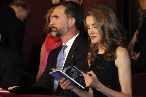 Prince Felipe and Princess Letizia attended 'L'Elisir d'Amore' at the Gran Teatre del Liceu in Barcelona