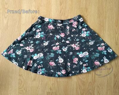 Przeróbka spódniczki na crop top DIY - Adzik tworzy