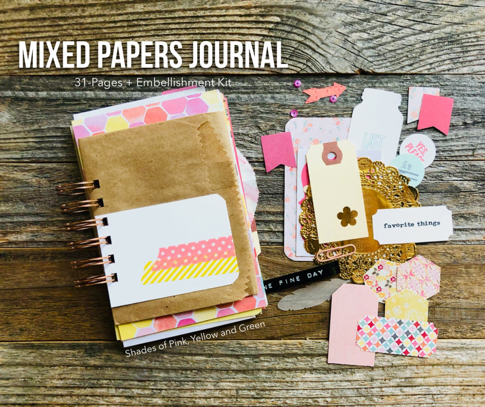 #junk journal #journal #30lists #lists challenge #30 Days of Lists #junk journaling #mixed paper journal #mini book #list journal