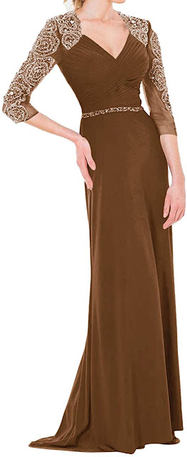 Beautiful Brown Mother of The Bride Dresses