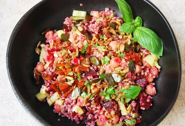 Taboulé quinoa betterave