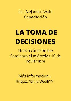 Curso online LA TOMA DE DECISIONES