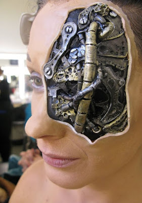 Steampunk prosthetic special fx makeup