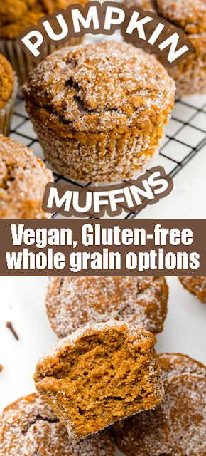 #Vegan #Pumpkin #Muffins ( #gluten-free, #wholegrain options)