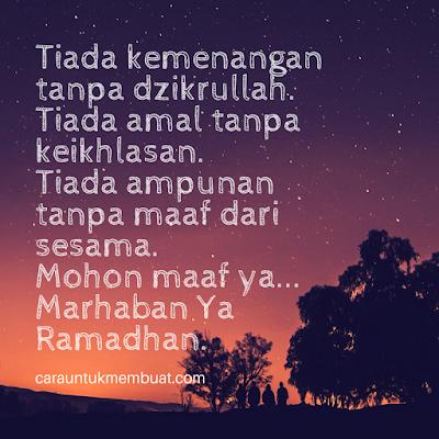 Kata Kata Mohon Maaf Bulan Ramadhan