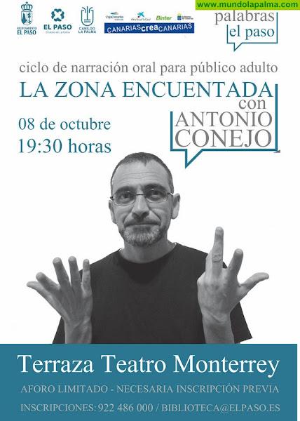 Palabras El Paso presenta este jueves 'La Zona Encuentada' con Antonio Conejo