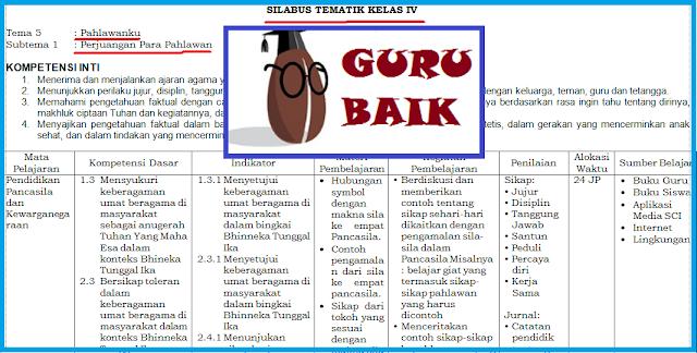 Download Silabus Kelas 4 Tema 5 Kurikulum 2013 Revisi 2018