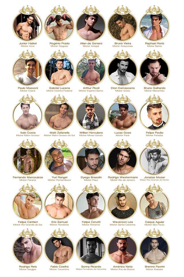 Candidatos a Mister Brasil 2016 - Foto: Reprodução