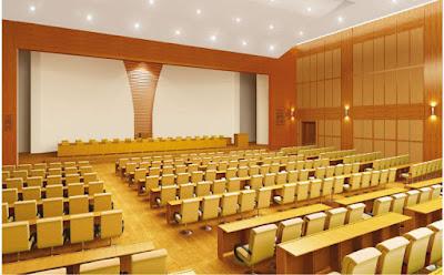 Thiết kế nội thất hội trường sang trọng và hiện đại