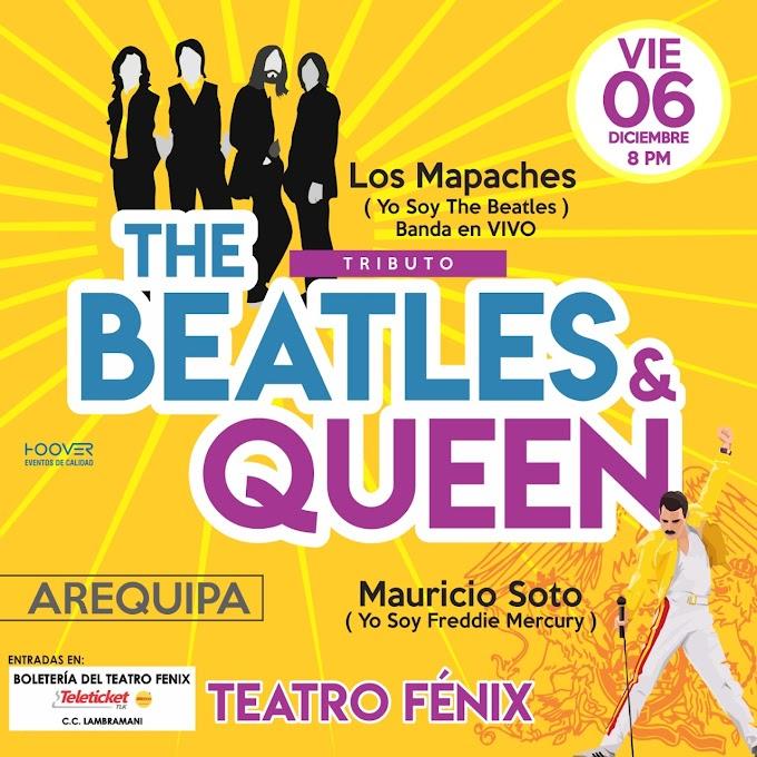 """Tributo a """"The Beatles"""" y """"Queen"""" - 06 diciembre"""