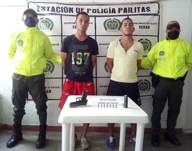 En Curumaní 'jugadores de fútbol' le quitaron el arma a un policía
